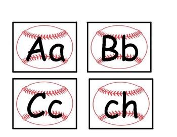 Spanish word wall letter-baseball black outline