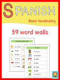 Spanish Word Walls  Basic Vocabulary