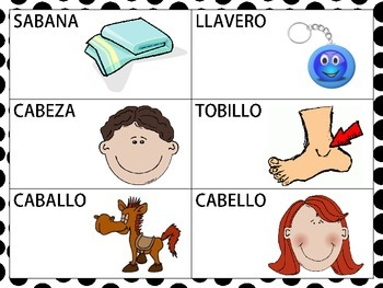 Spanish CVCV,CVCVCV, and Blend Words with the /b/ Sound in the Medial Position