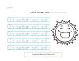 Spanish worksheet. Mr. Sun song