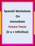 Spanish worksheet on immediate future: ir a + infinitive