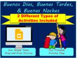 Buenos Días, Buenas Tardes, Buenas Noches-Printable & Dist