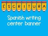 Spanish writing banner