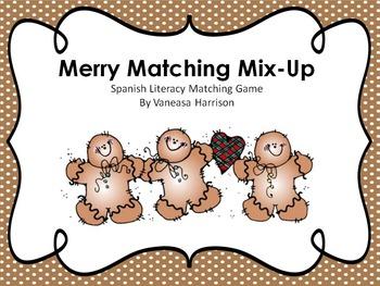 SpanishChristmas matching game- Juego de Navidad