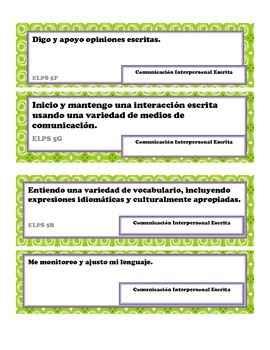 Spanish/ELPS Correlation