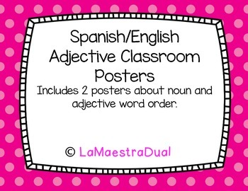 Spanish/English Adjective Posters