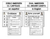 Spanish/English Anchor Charts for Self-Evaluation for Dual