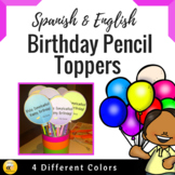 Bilingual Birthday Pencil Toppers