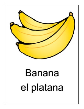 Spanish/English Food Posters