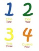 Spanish/English Vocabulary Colors, Numbers, Shapes Speech Therapy