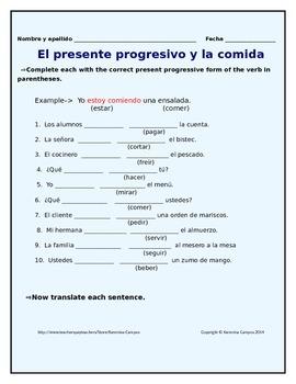 SpanishPresent Progressive