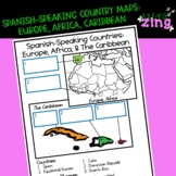 Spanish Speaking Countries Map Europe, Africa, Caribbean