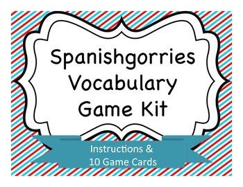 Spanishgorries Vocabulary Game Kit