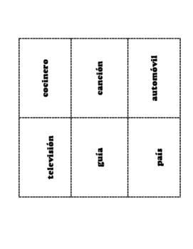 Spanish Definite/Indifinite Articles  game