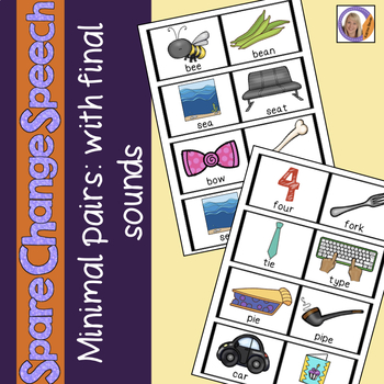 Spare Change Speech: Minimal Pairs with final sounds