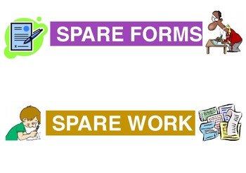 Spare forms and worksheet labels