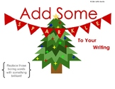 Sparkle Christmas Word Choice Activity / Bulletin Board