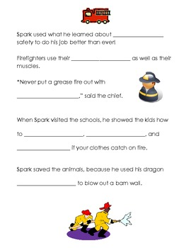 Spark the Firefighter Common Core Listening Center Activity