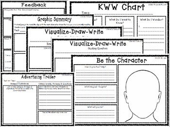 Sparking Student Creativity Grab and Go Strategies Graphic Organizers Pack