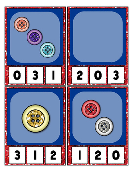 Sparkle Buttons Counting to 20 Clip Card Math Center for your Classroom