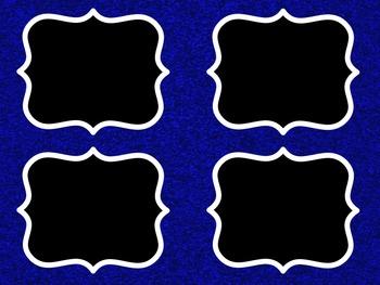 Sparkle Classroom Theme Pack Blue