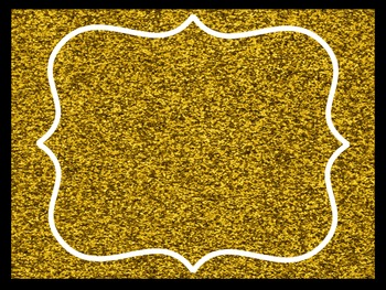 Sparkle Classroom Theme Pack Gold