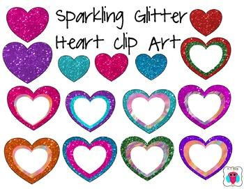 Sparkle Glitter Heart Clip Art