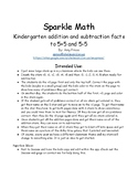Sparkle Math: Addition and Subtraction to 5