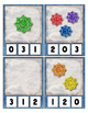 Sparkle Snow Flakes Counting 0 to 20 clip Cards for preschool & kindergarten