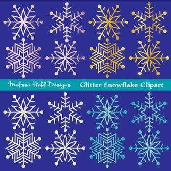 Sparkle Snowflakes Clipart