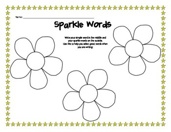 Sparkle Words: Word Choice Organizer for Writing Office