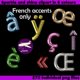 French Accents Clip Art Sparkle and Shine  in 8 colors to