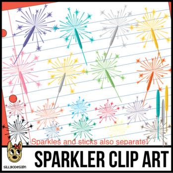 Sparkler Clipart, Fireworks
