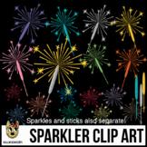 Sparkler Clipart, & Fireworks Clip Art