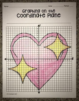 Sparkling Heart Emoji (Graphing on the Coordinate Plane/ M