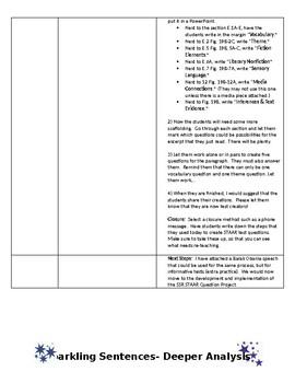 Sparkling Sentences for Secondary ELAR