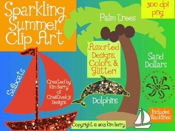 Sparkling Summer Clip Art