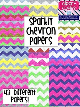 Sparkly Chevron Papers