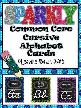 Sparkly Common Core Cursive Alphabet
