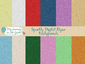 Sparkly Digital Paper Backgrounds