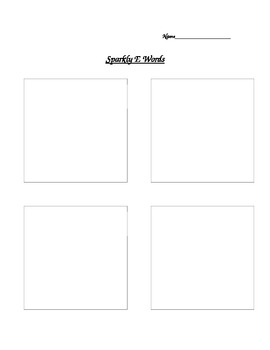 Sparkly E Worksheet