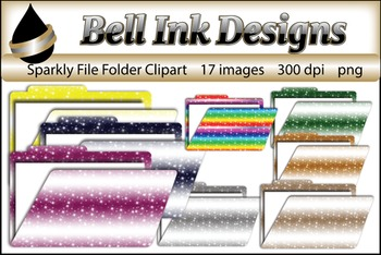 Sparkly File Folder Clipart