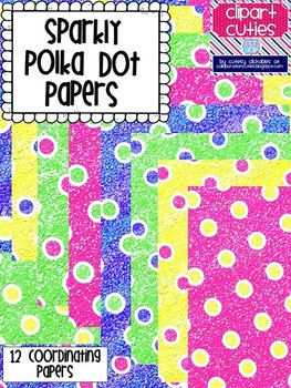 Sparkly Polka Dot Papers