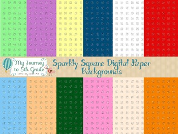 Sparkly Square Digital Paper Backgrounds