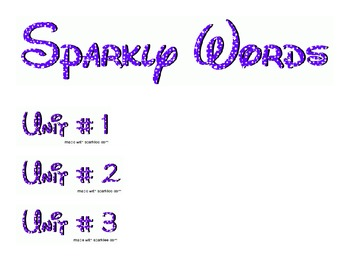 Sparkly Words (Adjectives)
