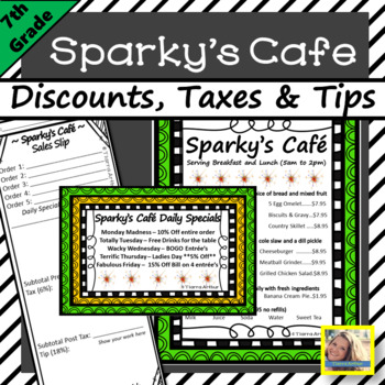 Sparky's Cafe Discounts, Taxes and Tips