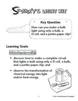 AIMS Activity: Sparky's Light Kit