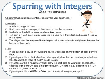 Sparring with Integers - Comparing Integers with Opposites and Absolute Value