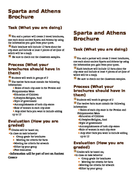 Sparta And Athen Brochure