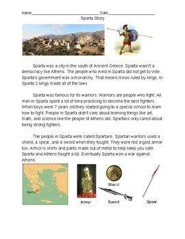Sparta- Comprehension Story